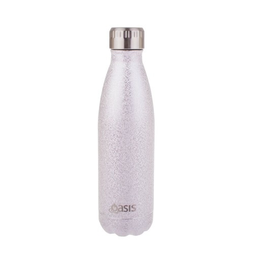Oasis Insulated Drink Bottle - 500ml Shimmer Silver