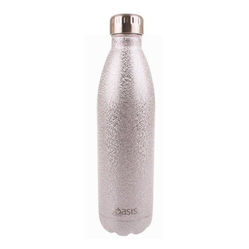 Oasis Insulated Drink Bottle - 750ml Shimmer Silver