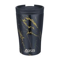 Oasis Insulated Travel Coffee Cup With Lid - 350ml Gold Onyx