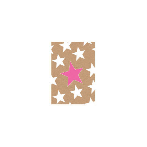 Mini Greeting Card - Pink and white stars