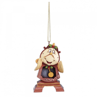Jim Shore Disney Traditions - Cogsworth Hanging Ornament