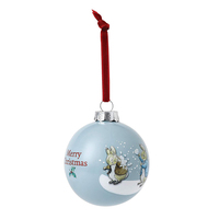 Beatrix Potter Peter Rabbit Christmas - Peter & Benjamin's Snowball Fight Bauble