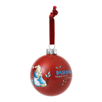 Beatrix Potter Peter Rabbit Christmas - Mrs. Rabbit & Peter Rabbit Merry Christmas Bauble
