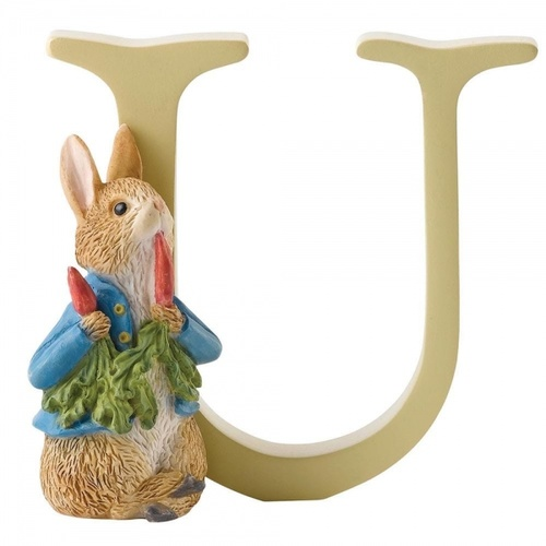 Beatrix Potter Alphabet - U - Peter Rabbit with Radishes