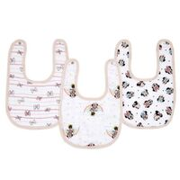 aden & anais Essentials Disney Snap Bibs 3 Pack - Minnie Rainbows