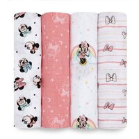 aden & anais Essentials Disney Swaddles 4 Pack - Minnie Rainbows