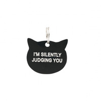 Say What? Cat Tag - Silently Judging