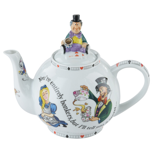 Alice Through The Looking Glass Teapot with Mad Hatter Lid 880ml