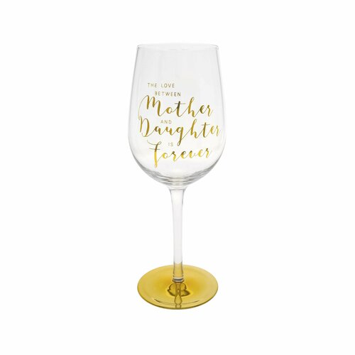 You Are An Angel Wine Glass - Mother and Daughter