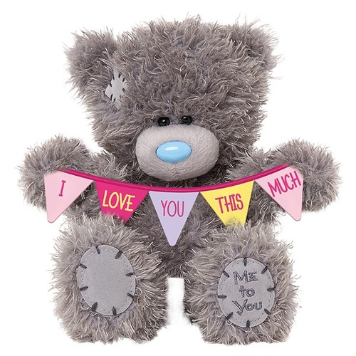Tatty Teddy Me To You Bear - I Love You This Much Bunting