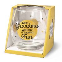Cheers Stemless Wine Glass - Sweet Grandma
