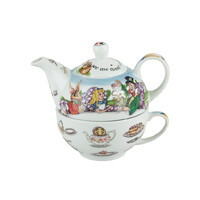 Alice In Wonderland Tea For One - Teapot and Teacup