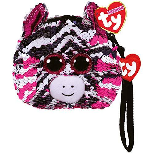 Beanie Boos Sequin Wristlet - Zoey the Pink Zebra