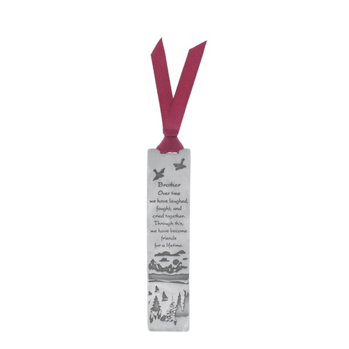 Metal Bookmark With Ribbon - Brother
