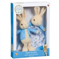Beatrix Potter Peter Rabbit Gift Set - Peter Rabbit Rattle & Comfort Blanket