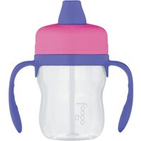 Thermos Foogo Tritan Plastic Soft Spout Sippy Cup with Handles 235ml Pink