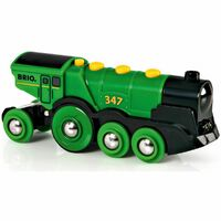 BRIO World Train - Big Green Battery Powered Action Locomotive