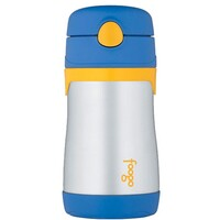 Thermos Foogo Drink Bottle with Straw 290ml Blue
