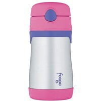 Thermos Foogo Drink Bottle with Straw 290ml Pink