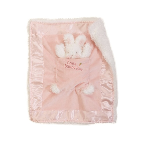 Bunnies By The Bay Lulla Bunny Blanket - Bye Binkie Pink Blossom