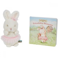 Bunnies By The Bay Cricket Island Gift Set - Friendship Blossoms Book & Plush