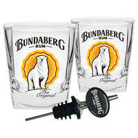 Bundaberg Rum Set 2 Bear Spirit And Pourer