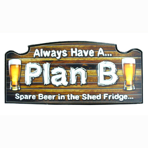 Plan B Man Cave Wall Board