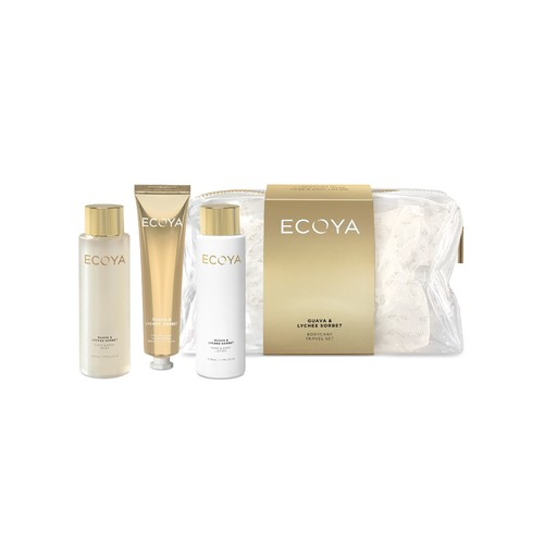 Ecoya Christmas Edition Mini Travel Set - Guava & Lychee Sorbet
