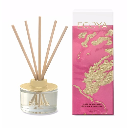 Ecoya Limited Edition Mini Reed Diffuser - Dark Chocolate Meringue & Raspberry