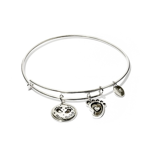 Chrysalis Friend & Family Collection - New Baby Expandable Bangle Rhodium Flash Plating