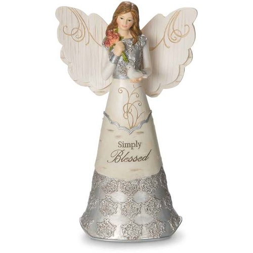 Elements Angel by Pavilion - Simply Blessed Figurine
