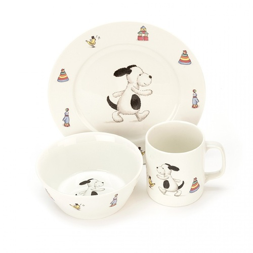 Jellycat Bashful Puppy China Dinner Set