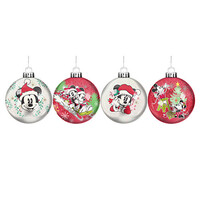 Disney - Mickey and Minnie Mouse Christmas Baubles Set of 4