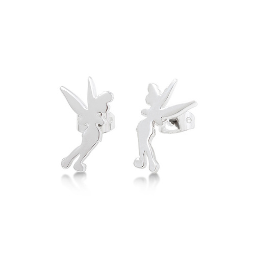 Disney Couture Kingdom Junior - Tinker Bell - Silhouette Stud Earrings White Gold