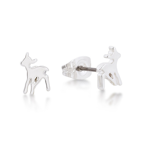 Disney Couture Kingdom Junior - Bambi - Stud Earrings White Gold