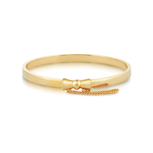 Disney Couture Kingdom - Minnie Mouse - Bow Junior Bangle Yellow Gold