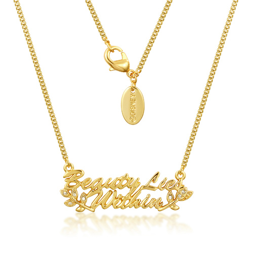 Disney Couture Kingdom - Beauty and the Beast - Beauty Lies Within Necklace Yellow Gold