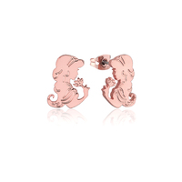 Disney Couture Kingdom - Aladdin - Princess Jasmine Stud Earrings Rose Gold
