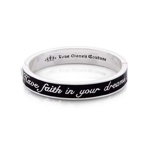 Disney Couture Kingdom - Tinker Bell - Black Dreams Bangle White Gold