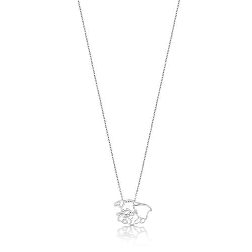 Disney Couture Kingdom Junior - Dumbo - Dumbo Outline Necklace White Gold