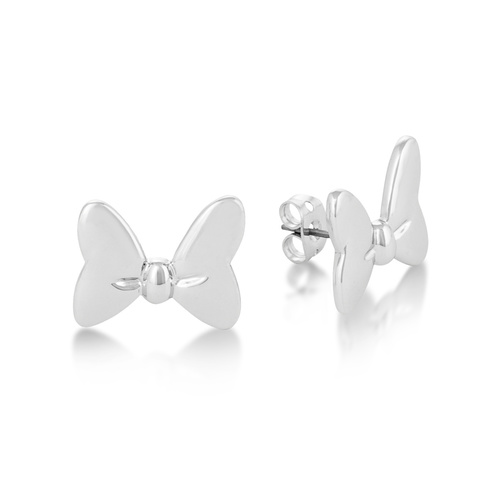 Disney Couture Kingdom - Minnie Mouse - Bow Stud Earrings White Gold