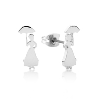 Disney Couture Kingdom - Mary Poppins Stud Earrings White Gold