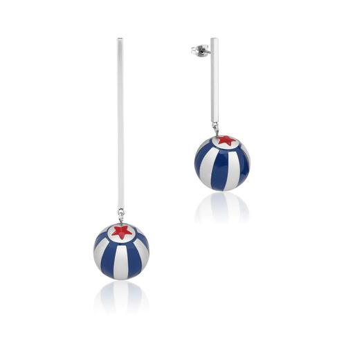 Disney Couture Kingdom - Dumbo - Circus Ball Drop Earrings White Gold