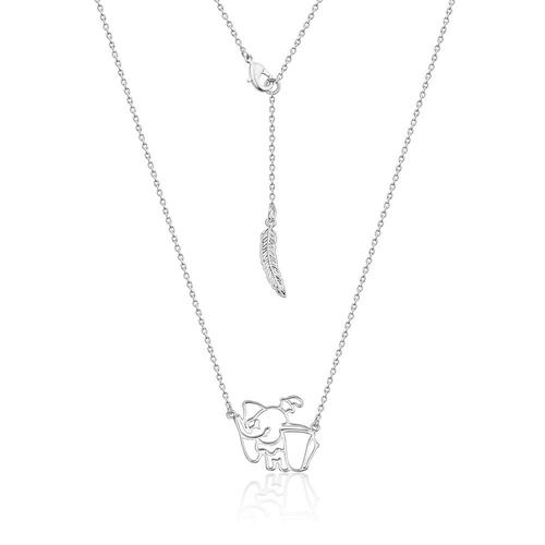 Disney Couture Kingdom - Dumbo - Outline Necklace White Gold