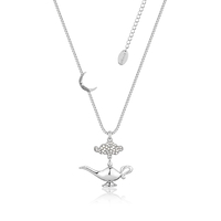 Disney Couture Kingdom - Aladdin - Genie Lamp in the Night Necklace White Gold