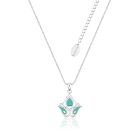 Disney Couture Kingdom - Aladdin - Princess Jasmine Enamel Necklace White Gold