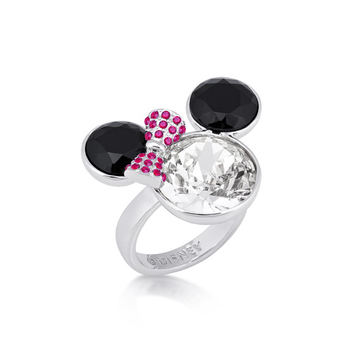 Disney Couture Kingdom - Minnie Mouse - Crystal Cocktail Ring White Gold Small