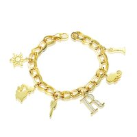 Disney Couture Kingdom - Tangled - Rapunzel Charm Bracelet Yellow Gold