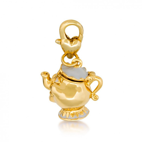 Disney Couture Kingdom - Beauty And The Beast - Mrs Potts Bracelet Charm Yellow Gold
