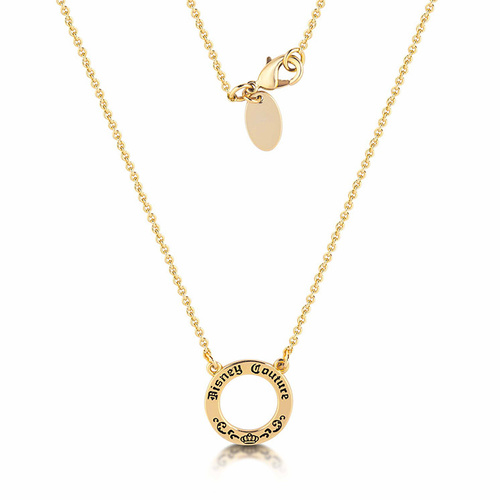 Disney Couture Kingdom - Signature Charm Necklace Yellow Gold